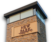 New Park logo tower