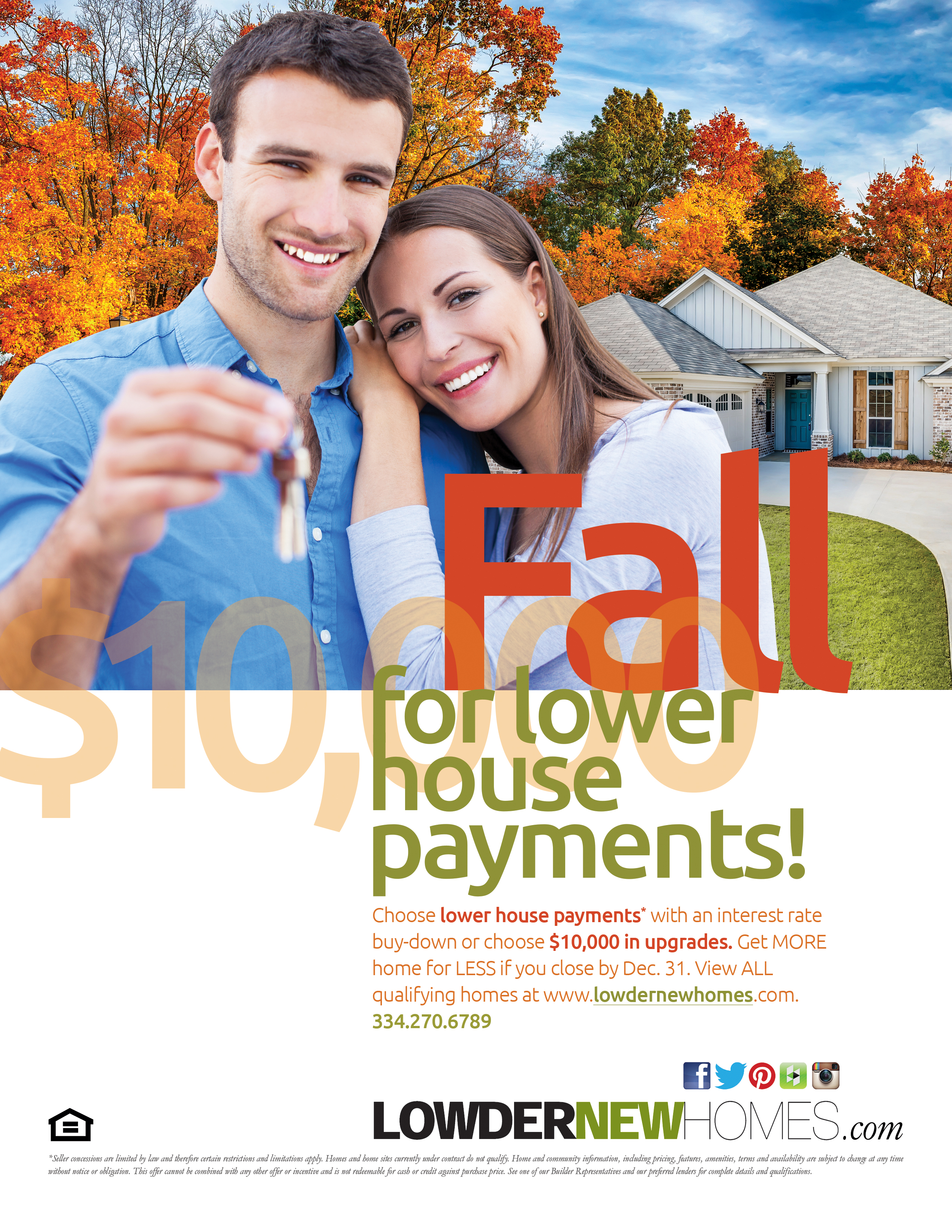 Lowder New homes Fall Sale at New Park
